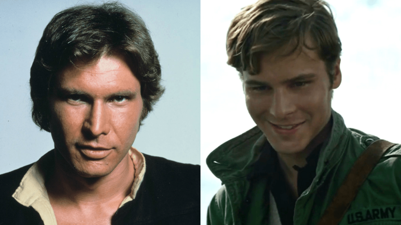 Harrison Ford and Anthony Ingruber