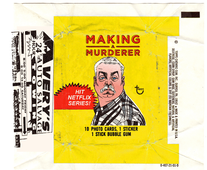 The Topps Making a Murderer card