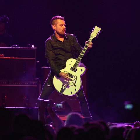 Billy Duffy on stage at Coachella Festival in 2014 with The Cult – Loaded