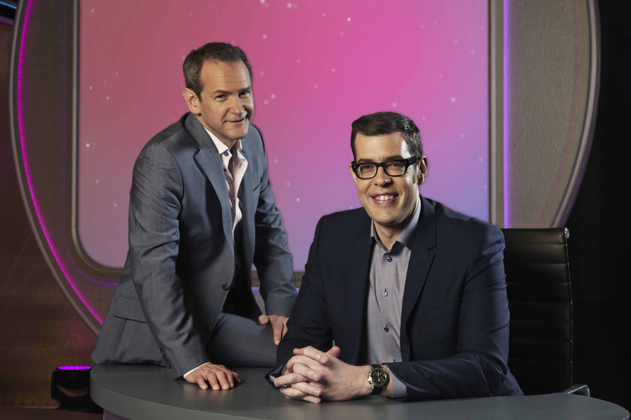 Richard Osman with crisp abstainer Alexander Armstrong
