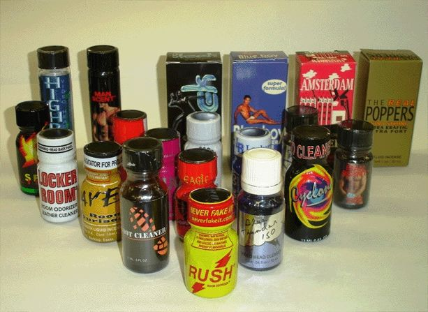 A variety of poppers