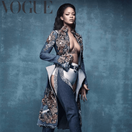 Rihanna's launched her Manolo Blahnik collaberation on the cover of Vogue – Loaded