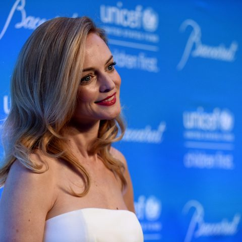 Heather Graham poses for a picture.