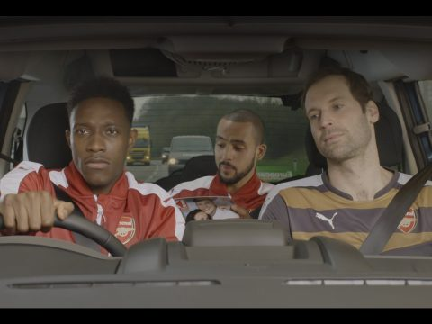 On the Road with Danny Welbeck, Petr Cech and Theo Walcott