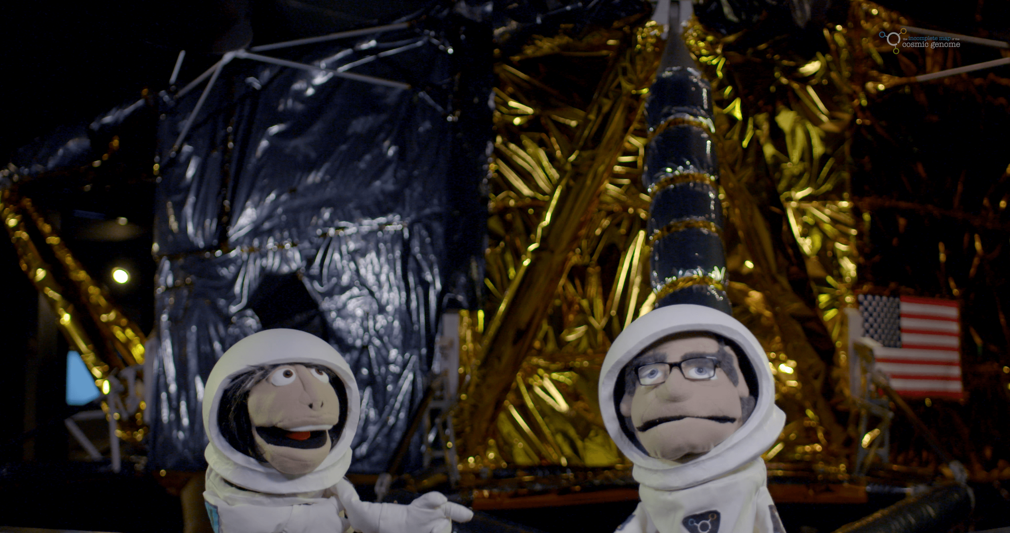 Brian Cox and Robin Ince's puppets go into space
