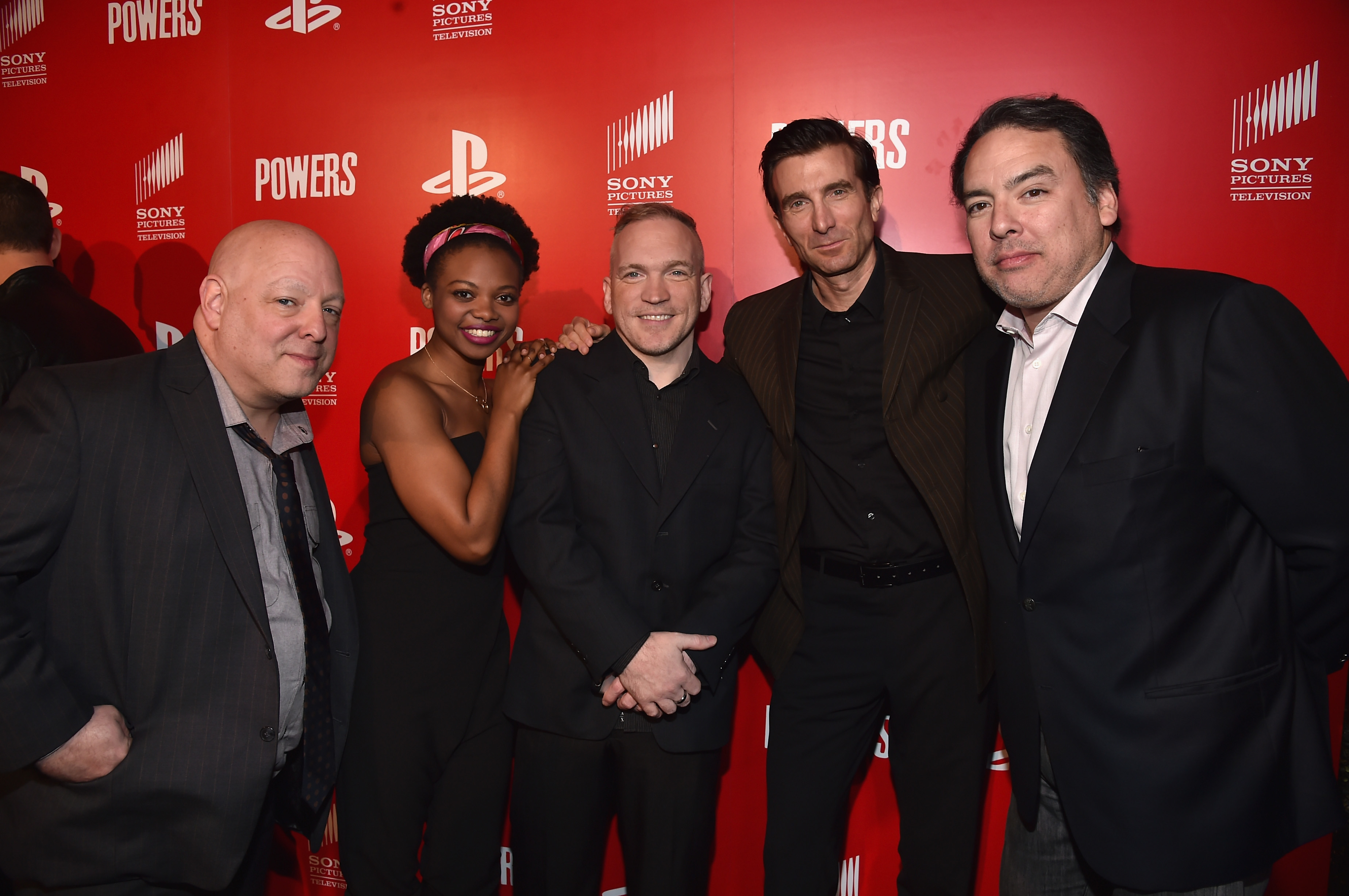 Bendis (far left) and the cast of Powers