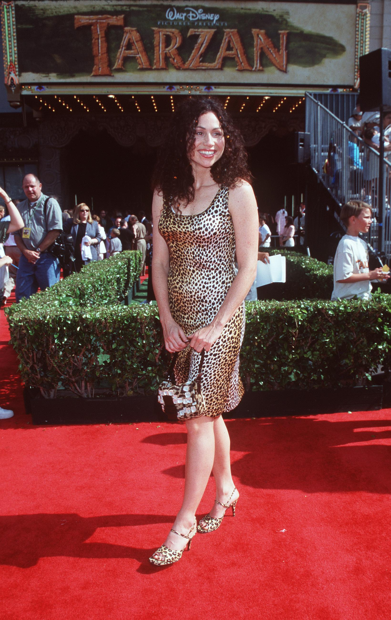 """378347 01: 6/12/99 Hollywood, CA Minnie Driver at the premiere of the new film """"Tarzan."""" Photo Brenda Chase/Online USA, Inc."""