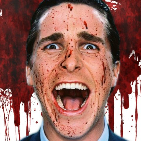 Christian Bale as a movie psychopath