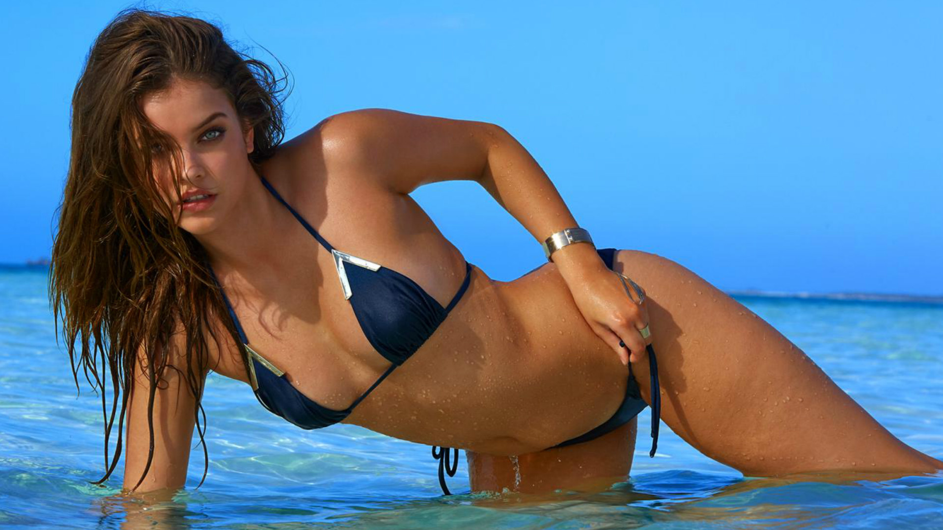 Barbara Palvin poses for Sports Illustrated