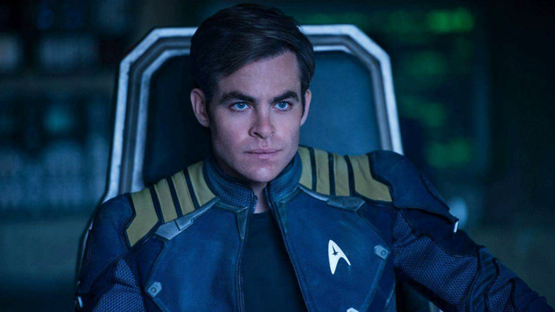 Chris Pine as Captain Kirk in Star Trek Beyond