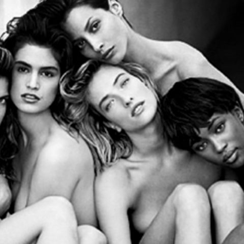 Christy Turlington with her supermodel squad