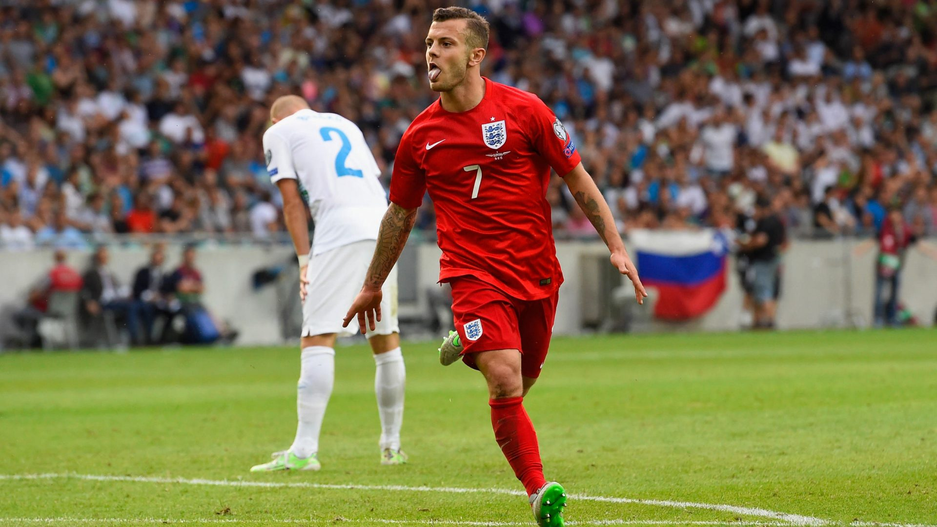 Jack Wilshire in action for England