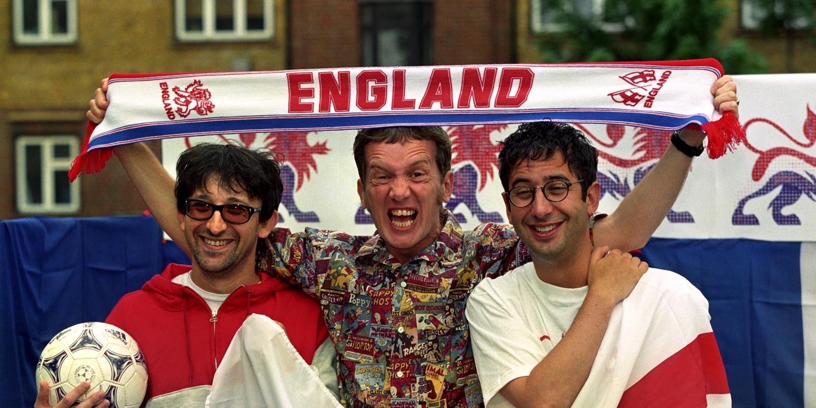Frank Skinner and the Three Lions gang.