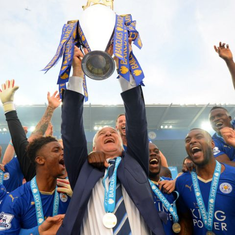 Leicester City Premier League trophy