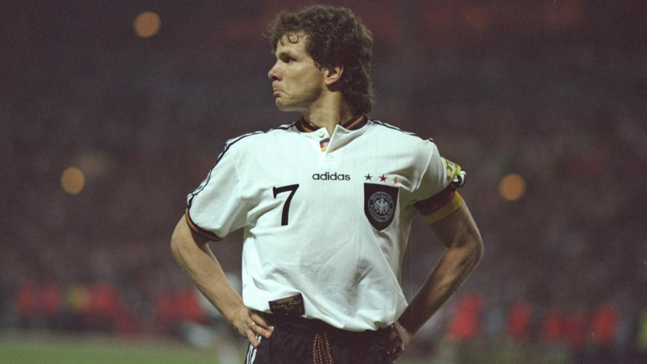 Andreas Moller for Germany at Euro 96