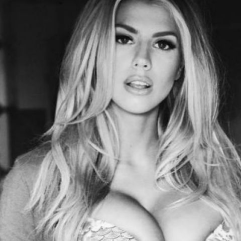 Charlotte McKinney modelling for Guess