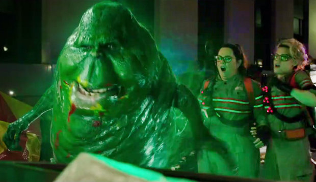 Slimer in the new Ghostbusters movie.