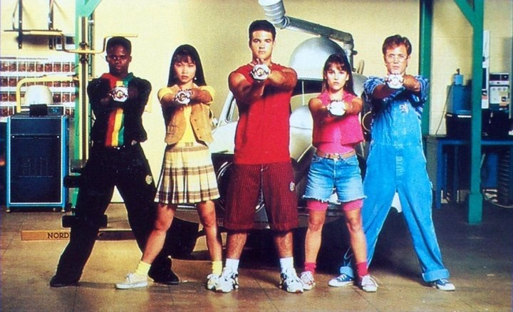 The original Power Rangers line-up.