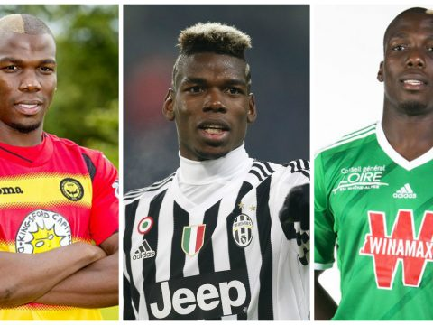 Paul Pogba and his brothers Mathias and Florentin Pogba.