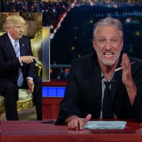 Jon Stewart on The Late Show