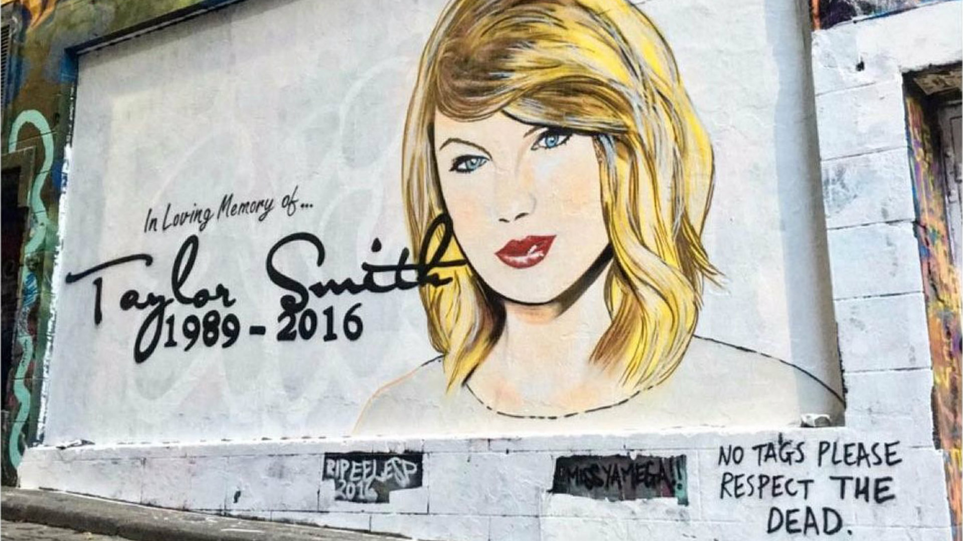 Taylor Swift mural in Melbourne