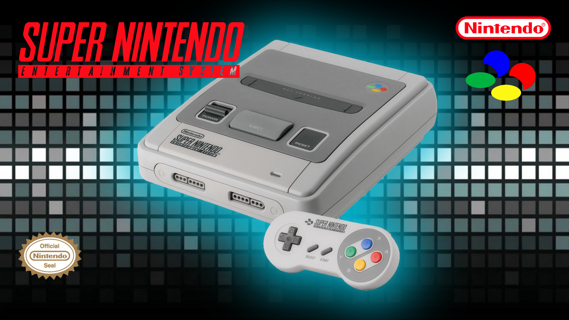 The Super Nintendo console.