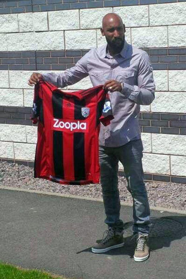 Nicolas Anelka signs for West Brom.