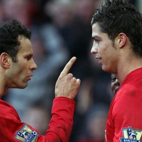 Cristiana Ronald and Ryan Giggs