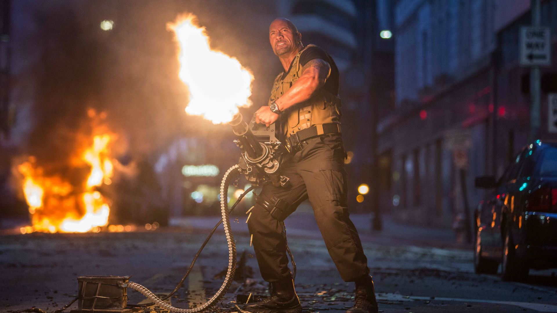 Dwayne The Rock Johnson in Fast & Furious 7