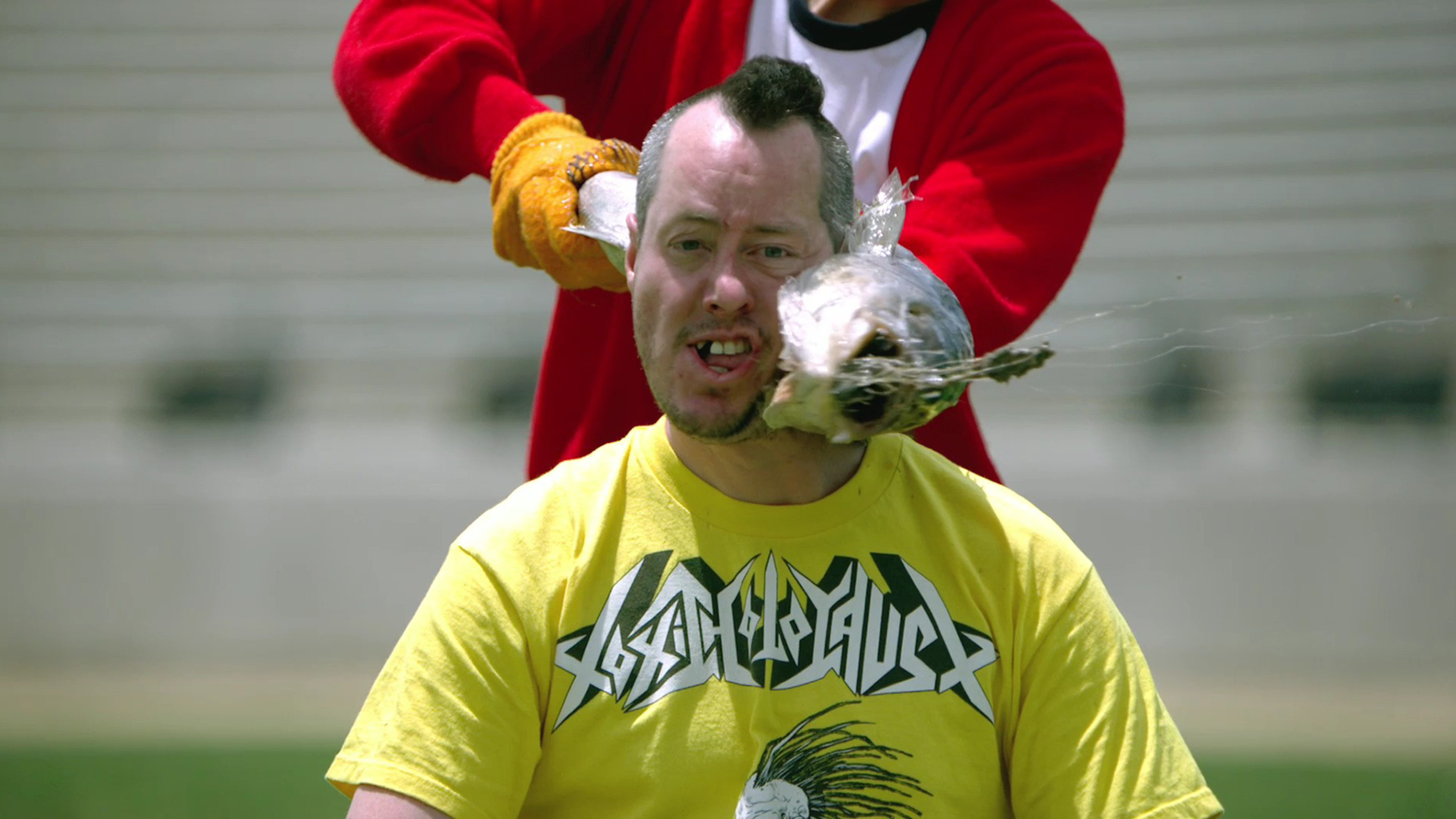 A still image from Jackass 3D.