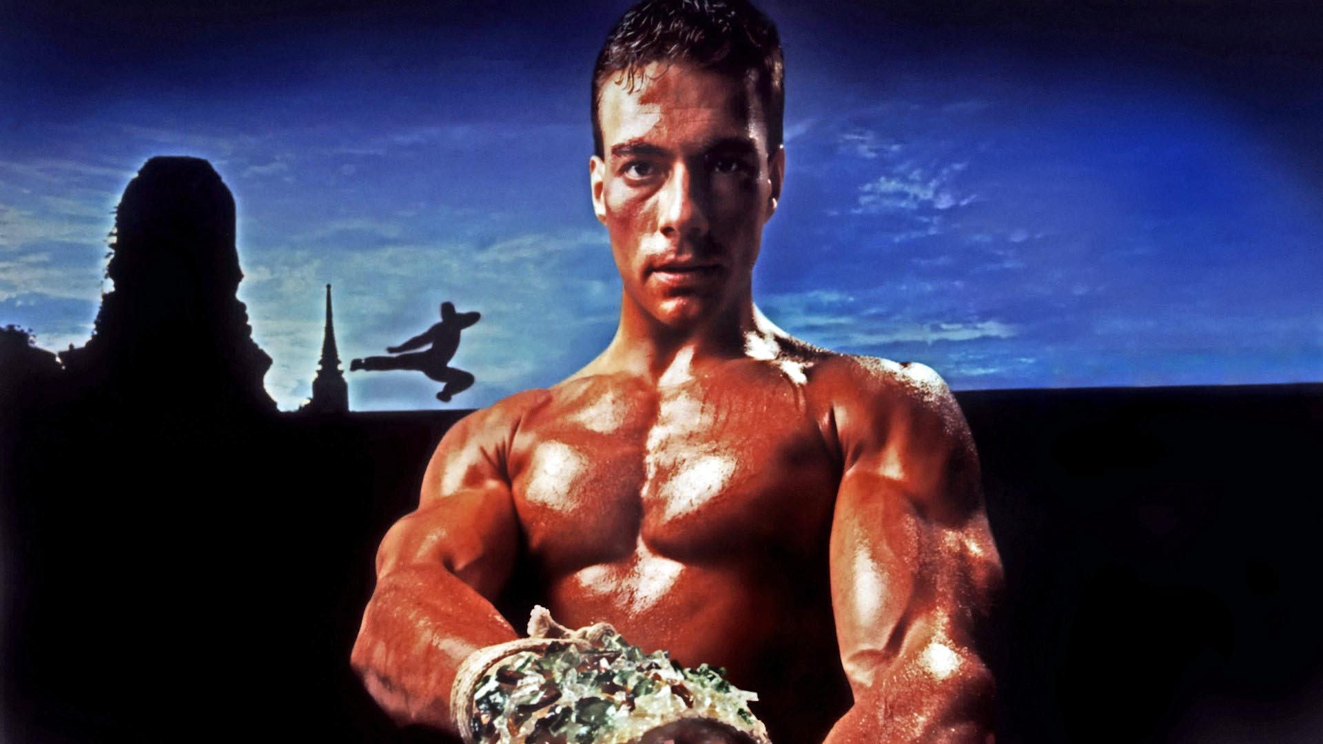 Jean-Claude Van Damme in the original Kickboxer movie.