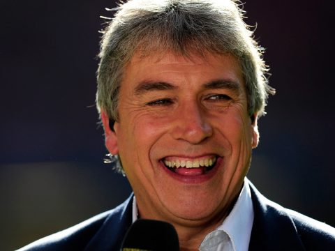 John Inverdale working on commentary.