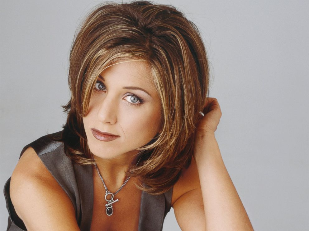 The Rachel hairstyle sported by Jennifer Aniston