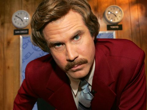 Will Ferrell as Ron Burgundy in Anchorman