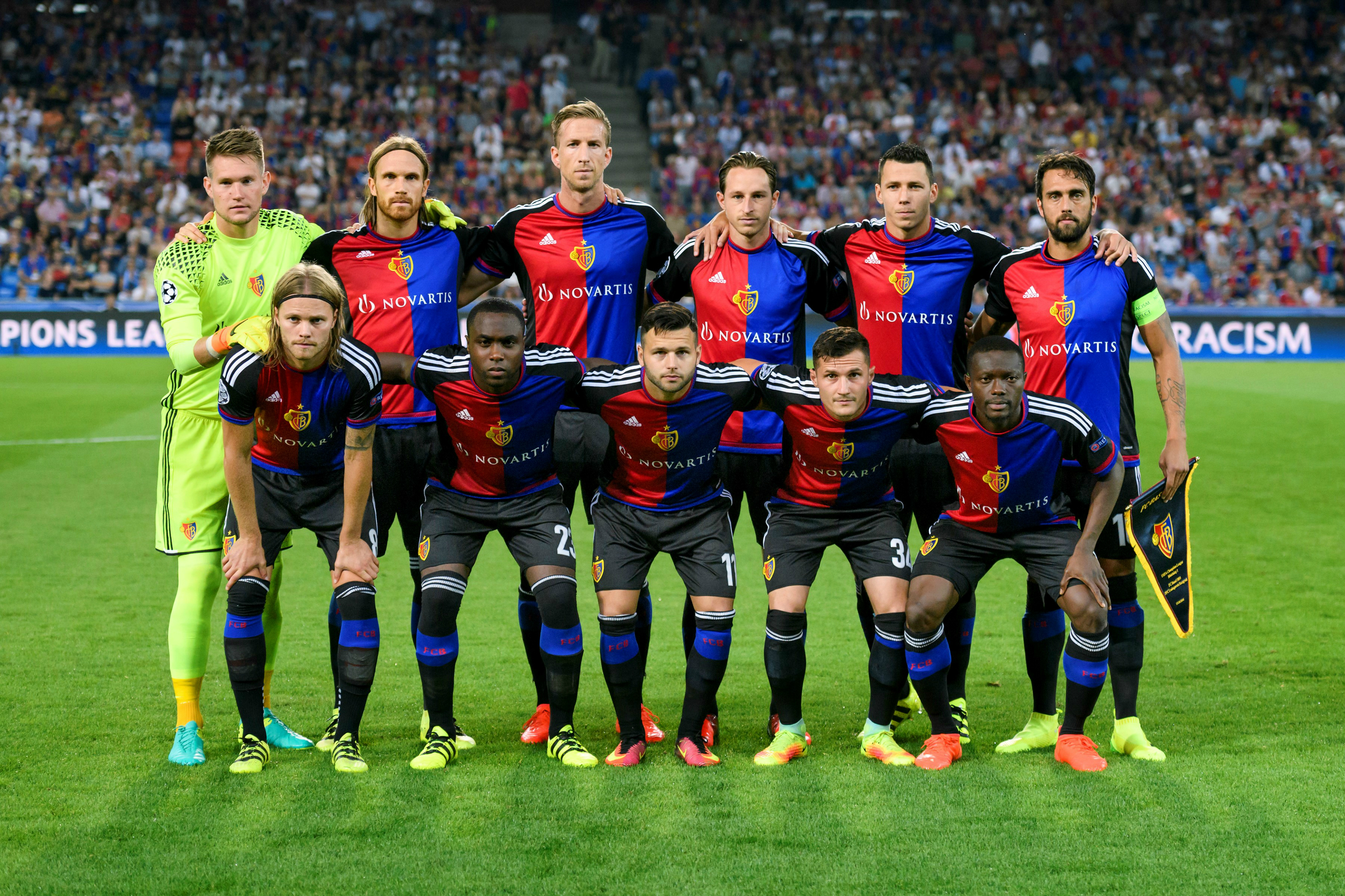 The Basel team posing for a photo.