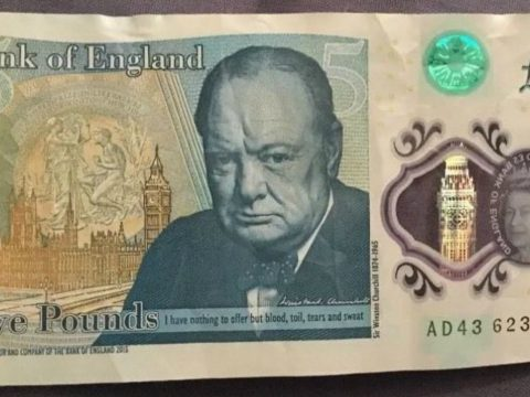 The new £5 notes feature Winston Churchill