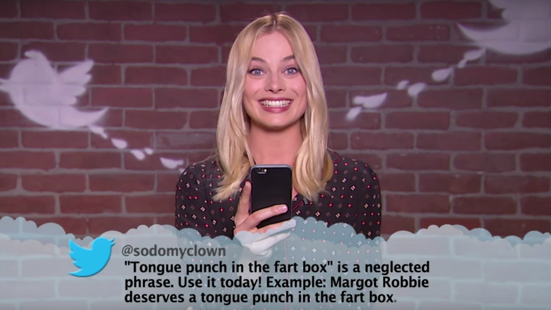 Margot Robbie reads Mean Tweets