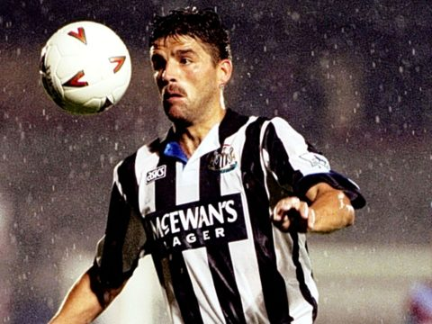 Philippe Albert playing for Newcastle United