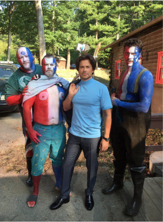 Rob Lowe on the set of his new film