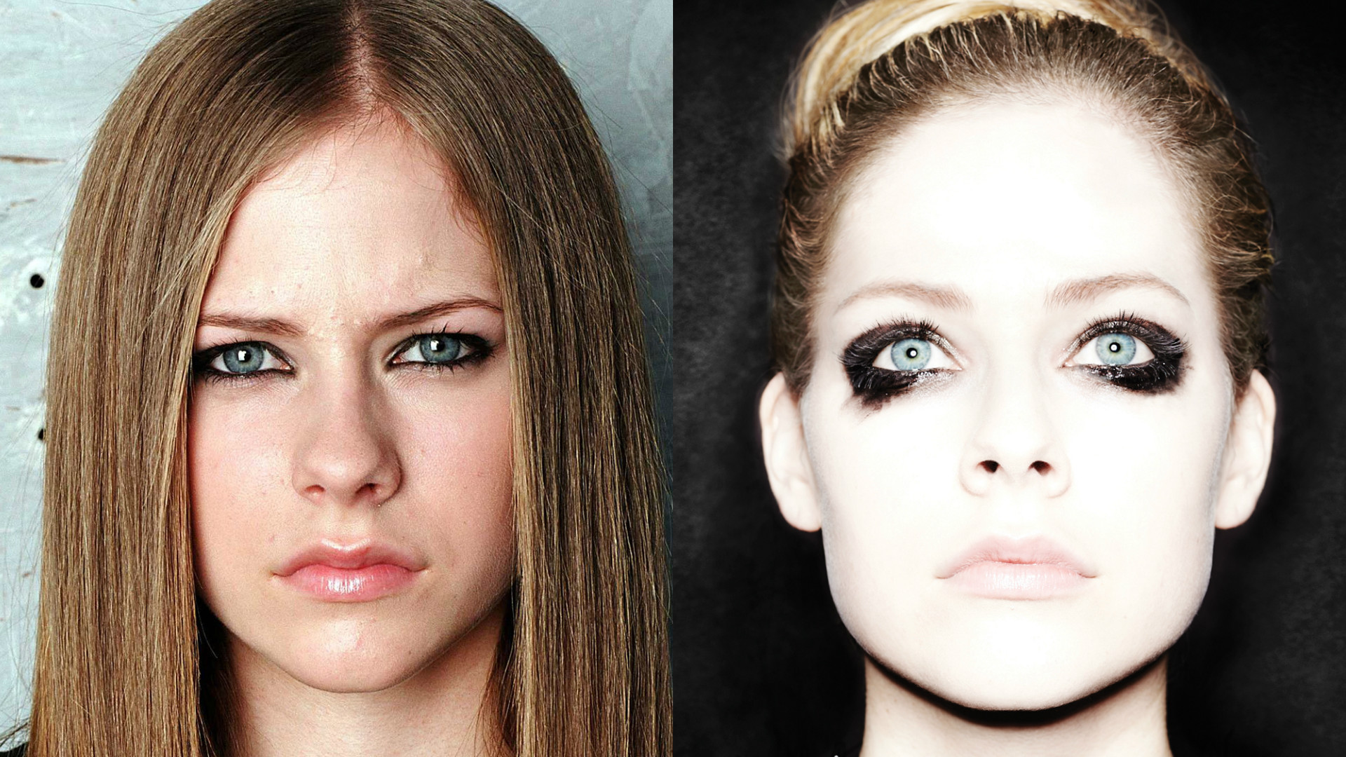 Avril Lavigne then and now