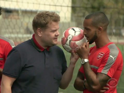 James Corden Arsenal The Late Late Show