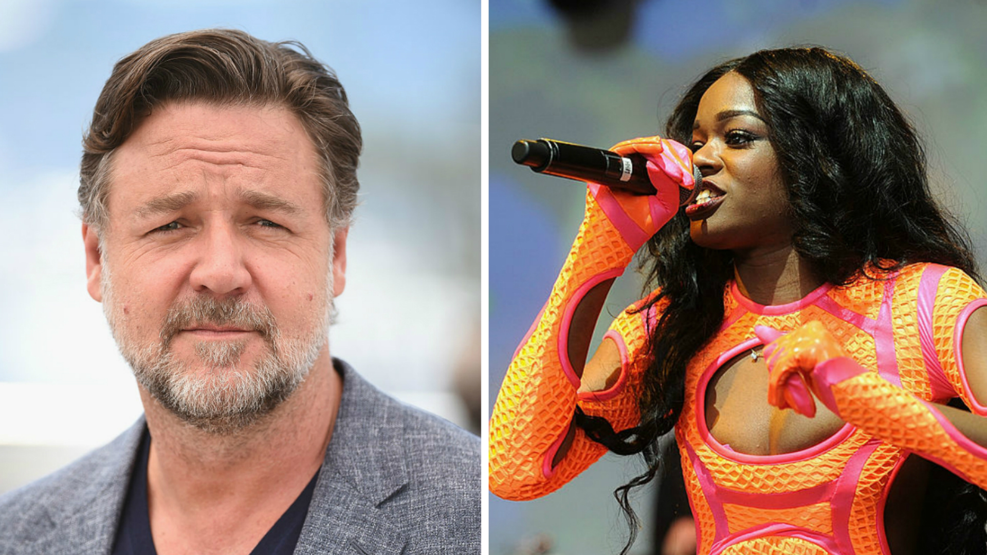 Azealia Banks and Russell Crowe