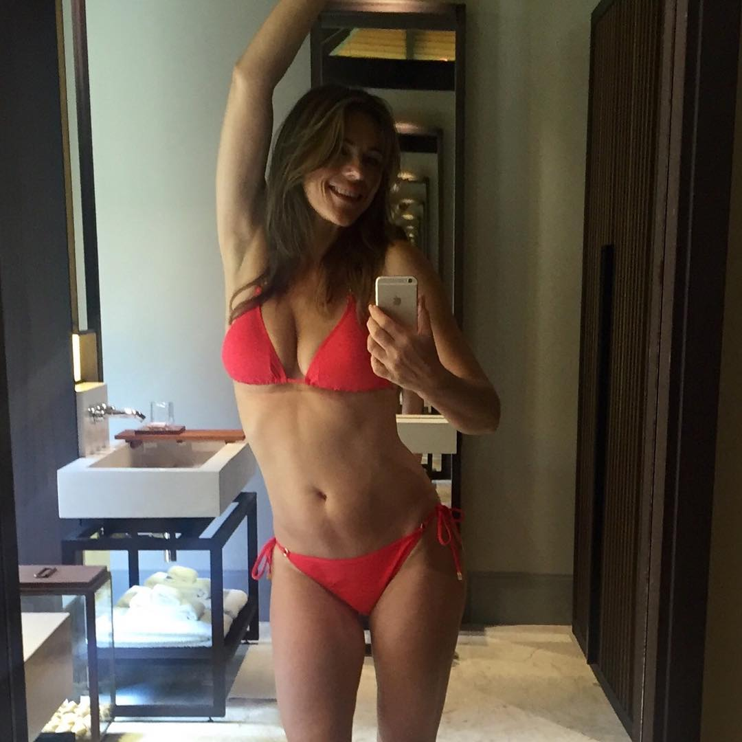 Elizabeth Hurley poses on Instagram.