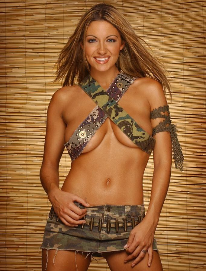 Jodie Marsh and her army belts.