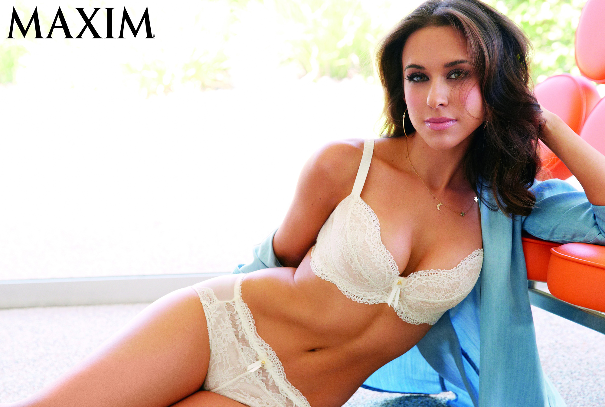 Lacey Chabert poses for Maxim