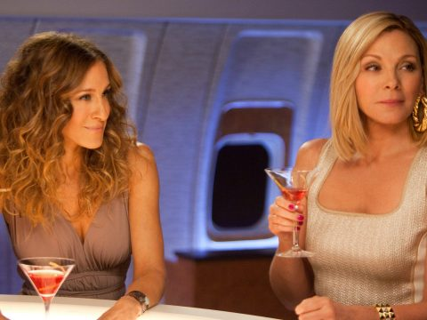 Sarah Jessica Parker and Kim Cattrall in Sex and the City 2.