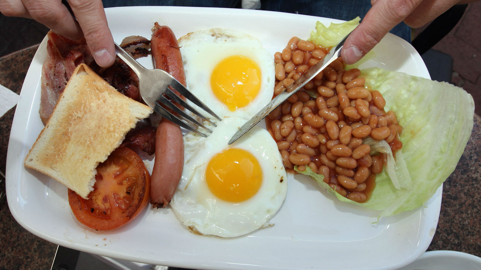Full English breakfast fry up