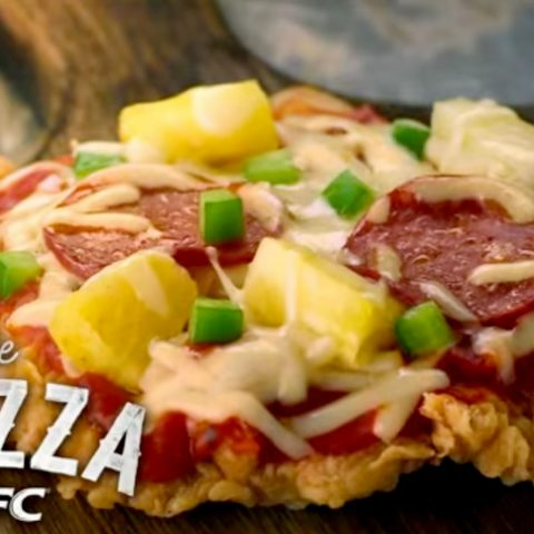 KFC's Chizza chicken pizza