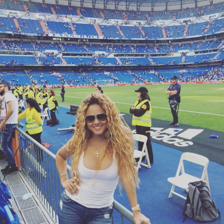 Liza Hernandez at the Bernabeu