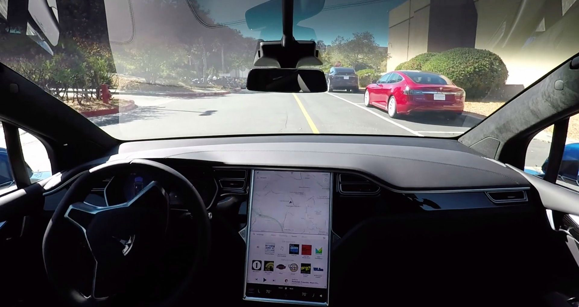 Tesla self-driving car